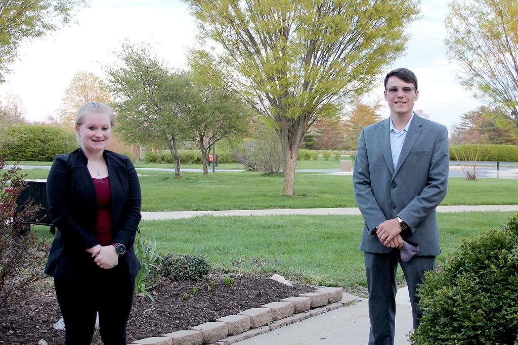Photo of Student Trustee Katie Greuel and former Student Trustee Lucas Duduit